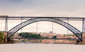Vintage look of bridge in Porto, Portugal — Stock Photo