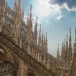 Decorations of cathedral Milan, Italy — Stock Photo #8100039