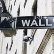 Wall street street sign - Stock Photo