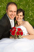 A classical newly wed couple — Stock Photo