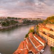 Stock Photo: Panorama of Porto and Port warehouses