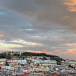 Lisbon at sunset with copyspace, Portugal — Stock Photo