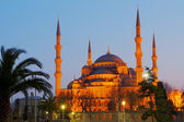 Blue Mosque at night — Stock Photo