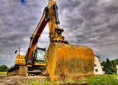 Escavador vermelho — Fotografia Stock