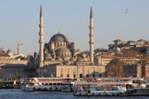Istanbuls New Mosque from the sea — Stock Photo