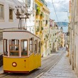 Lisbon's Gloria funicular - Stock Photo