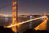 Ponte golden gate ao entardecer — Foto Stock