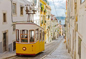 Lisbon's Gloria funicular — Stock Photo