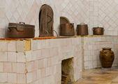Vintage kitchen of Sintra Palace — Stock Photo