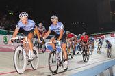Track racer change lead — Stock Photo
