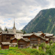 Swiss alpine settlement Blatten Naters, Switzerland — Stock Photo
