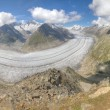 Aletsch glacier, Switzerland — Stockfoto