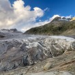 Tongue of Rhone glacier, Switzerland — Stock Photo