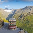 Vintage hotel in alps, Switzerland — Stock Photo #9401687