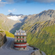 Vintage hotel in alps, Switzerland — Stock Photo