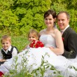 Stock Photo: Happy wedding family