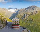 Vintage hotel in alps, Switzerland — Stock Photo