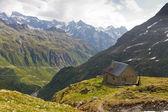 High altitude hut, Switzerland — Stock Photo