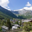 Saas Fee town Switzerland — Stock Photo #9536841