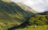 Houses in alps, Switzerland — Fotografia Stock