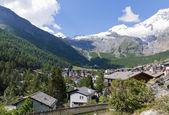 Saas fee stad zwitserland — Stockfoto
