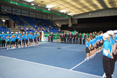Award ceremony at tennis Zurich Opne 2012 — Stock Photo