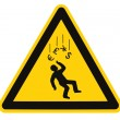 Stock Photo: Danger Falling Currencies Warning Sign Isolated Macro