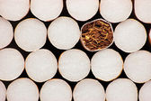 Macro Closeup Of Class A Filter Cigarettes, Isolated — Stock Photo