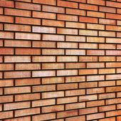 Grunge Red yellow beige tan fine brick wall texture background — Stock Photo