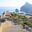 Viewing platform with seaview on mallorcon formentor cape — Stock Photo #8982150