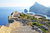 Viewing platform with a seaview on mallorca on formentor cape — Stock Photo
