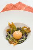 Fried yolk — Stock Photo