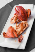 Lobster on white dish — Stockfoto