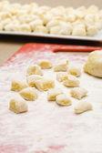 Making gnocchi — Stock Photo