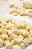 Making gnocchi — Stock Photo