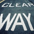 Stock Photo: Clear way