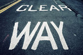 Clear way — Stock Photo