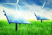 Green energy installation — Stock Photo