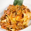 Pappardelle with wild boar — Stock Photo #9090634