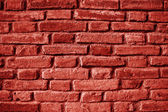 окрашенные красные стены — Стоковое фото