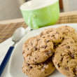 Royalty-Free Stock Photo: Breakfast with chocolate cookies
