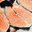 Chopped salmon — Stock Photo