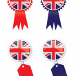 Stock Photo: Union Jack Tags
