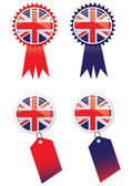 Union Jack Tags — Stock Photo