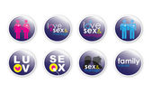 Love and Sex Buttons 2 — Stock Photo