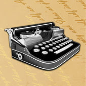 Vintage background with old typewriting machine — Foto Stock