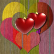 Colorful heart background — Stock Photo