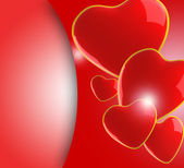 Red background with hearts — Stockfoto