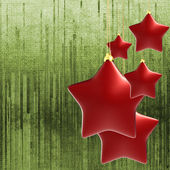 Festive background with red stars — Stock Photo
