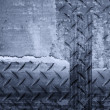 Stock Photo: Diamond plate background in bw tones